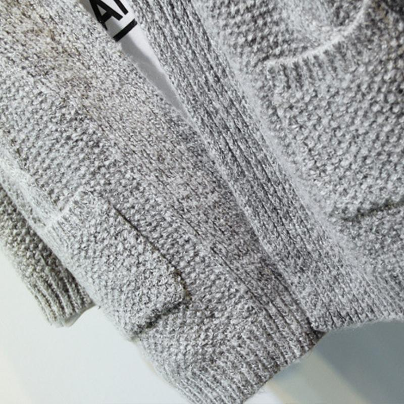 2018 New Women Korean Long Cardigan Crochet Casual Oversized Open Stitch Knitted Coat Thick Spring Autumn Cardigan Female in Cardigans from Women 39 s Clothing