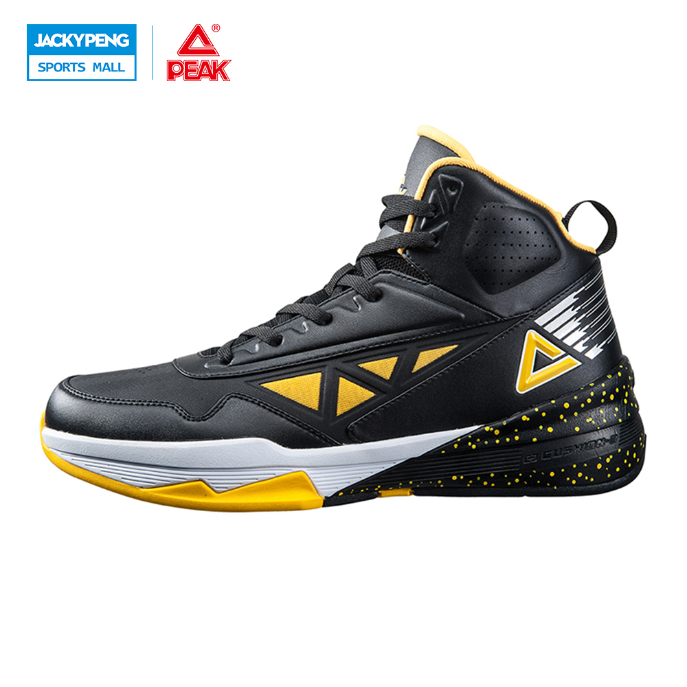 ФОТО PEAK SPORT Men Basketball Shoes Authent Breathable Outdoor Sneakers FOOTHOLD Cushion-3 REVOLVE Tech Athletic Training Boots