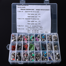 540 pcs/lot Scissors Screws sets mix Scissor Stoppers in Box Haircutting Styling Accessories Bumpers Silenciador