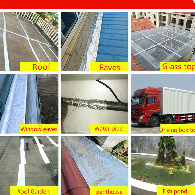 Waterproof adhesive tape leaks strong building roof self adhered coil crack  gap seal sealing paste Eaves pipe cement wall ground