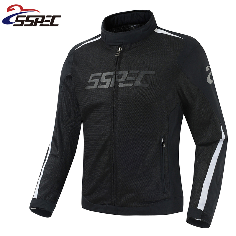 2018 SSPEC Breathable Mesh summer Moto Racing Jacket MEN S Dain Super Speed Textile Jacket Motorbike
