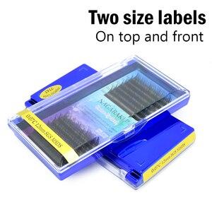 Image 2 - NAGARAKU lot de 5 kits de faux cils individuels, couleur Ombre, violet, bleu, dégradé de couleurs, Premium doux, en Faux vison