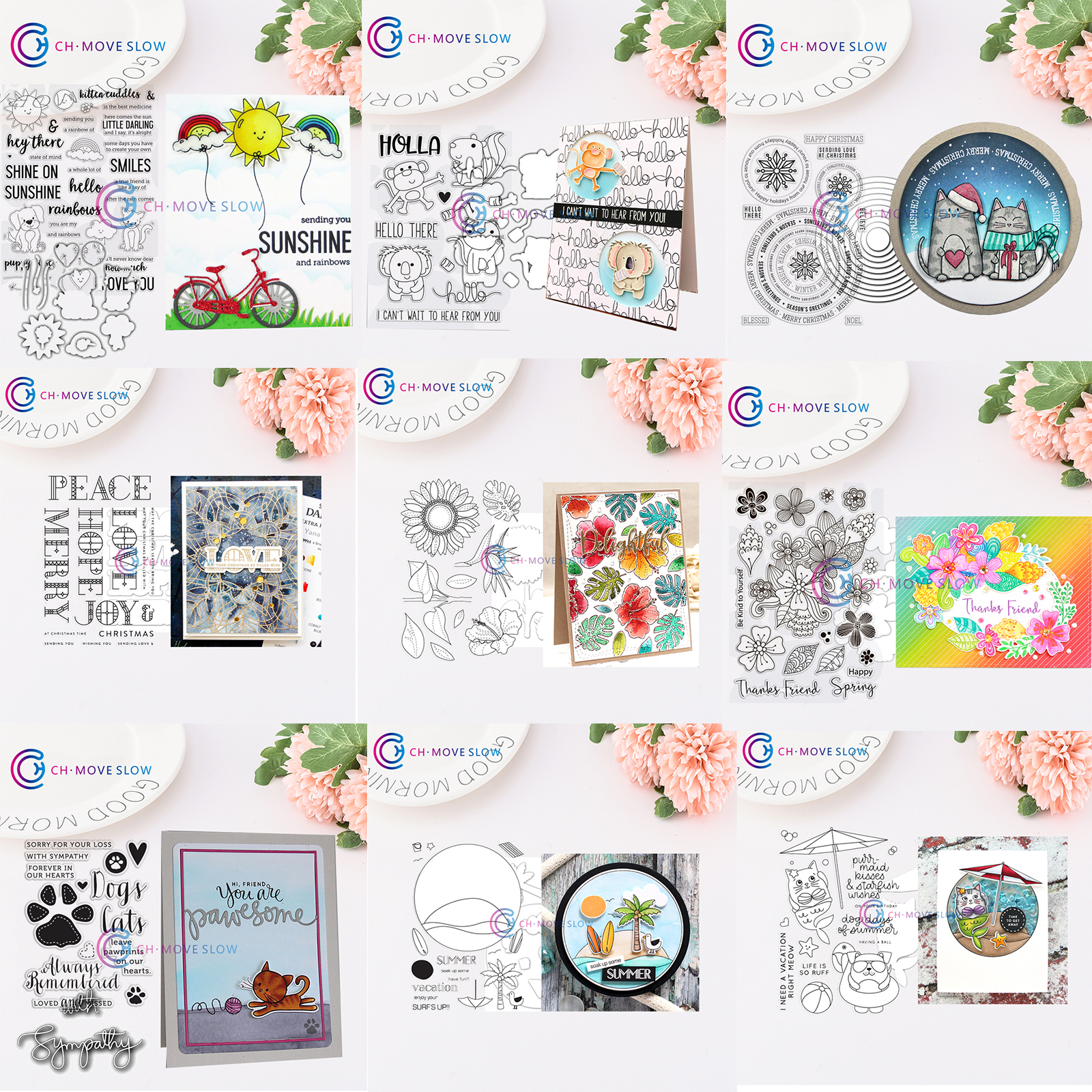 Rosemary Stamps Animals And Letters Metal Cutting Dies Stencils For Scrapbooking Album Stamps Decorative EmbossingPaper Cards