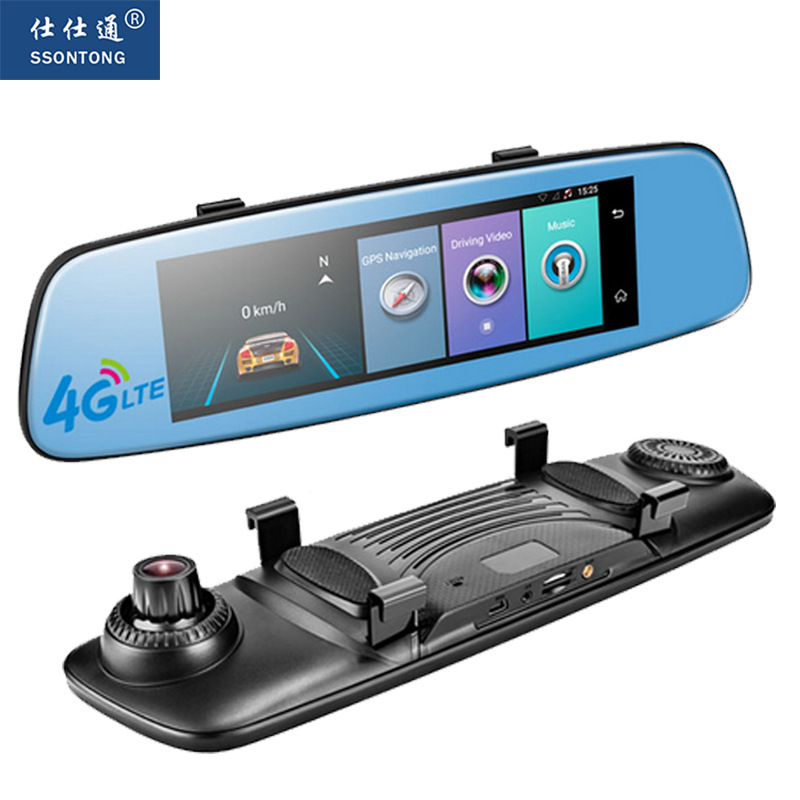 4G Car DVR 7.84 Touch ADAS Remote Monitor Rear view mirror with DVR bluetooth and camera Android Dual lens 1080P WIFI dashcam
