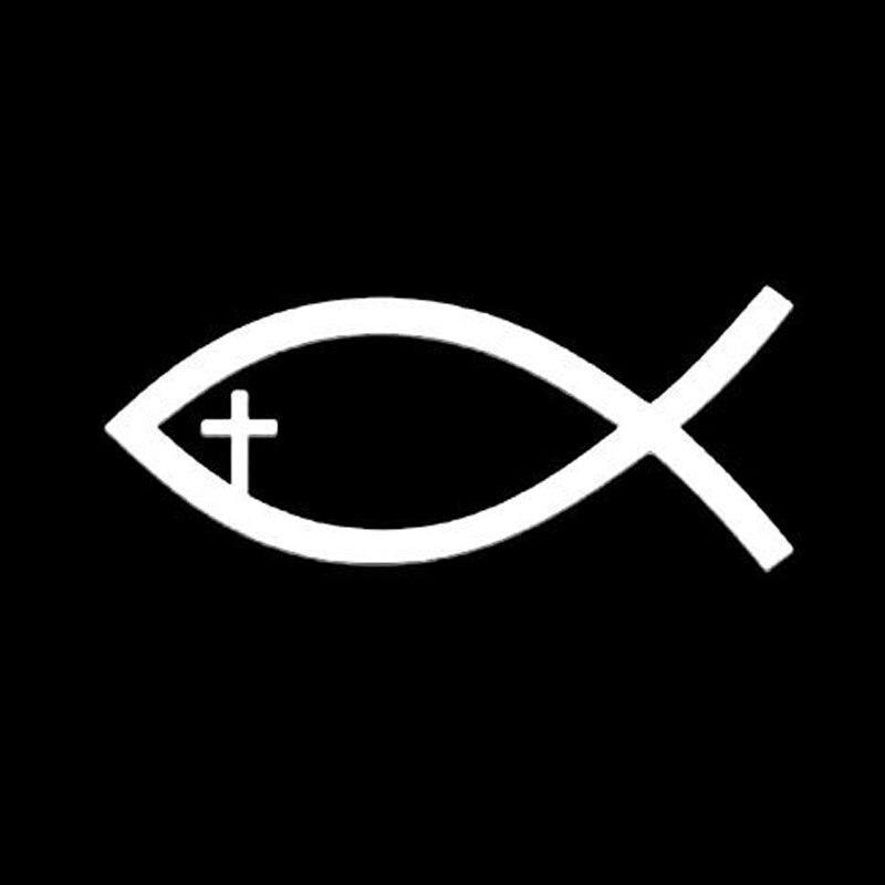 1042 CM Jesus Chretien De Poissons Symbole Decal Autocollant Voiture Fenetre En Verre Decoration Accessoires C6 1288 Dans Autocollants