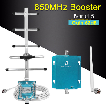 Cellular Signal Booster CDMA GSM UMTS 850MHz 3G Repeater 62dB Mobile Phone Signal Booster Repeater 850mhz Cellular Amplifier Set