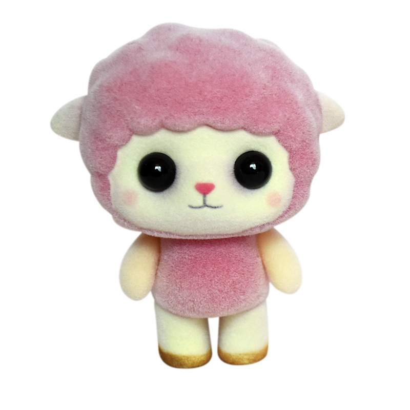 Mini Sheep Doll Toys Kawaii Flocking Animals Toy Baby Girls Christmas Gifts Kid Toys DIY Craft Accessories Car Home Decoration