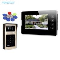 HOMSECUR 7 אינץ וידאו דלת טלפון אינטרקום מערכת עם אחד כפתור נעילה עבור אבטחת בית IDS-G + V70T2