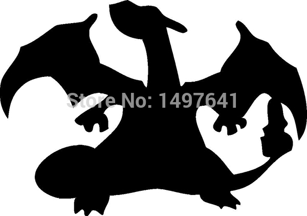 Charizard Pokemon Funny JDM sticker Car Rear Windshield Truck Bumper Laptop Anime Video Game Vinyl Decal 8 Colors