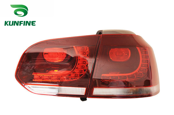 KUNFINE Pair Of Car Tail Light Assembly For VOLKSWAGEN GOLF6 2008 2009 2010 2011 2012 2013 Brake Light With Turning Signal Light car rear trunk security shield cargo cover for volkswagen vw golf 6 mk6 2008 09 2010 2011 2012 2013 high qualit auto accessories