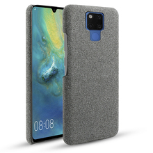 For Huawei Mate 20 X 5G Case Slim Retro Woven Fabric Cloth Anti-scratch PC Hard Cover 20X Shockproof