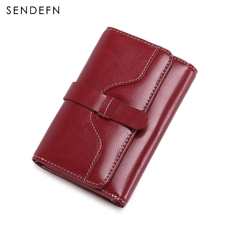 Petit portefeuille en cuir fendu portefeuille femmes court sac à main bouton femmes portefeuilles de luxe porte-carte sac à main décontracté pochette