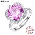 Brand New 5ct Genuine Pink Topaz Solid 925 Sterling Silver Ring Vintage Jewelry Wholesale Promotion with Box