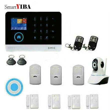 SmartYIBA Home Security Alarm Camera System Wireless Remote Control Wifi GSM Intelligent Burglar Alarm House Business Auto Dial