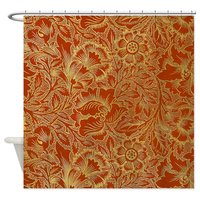 CafePress William Morris Poppy Shower Curtain Decorative Fabric Shower Curtain