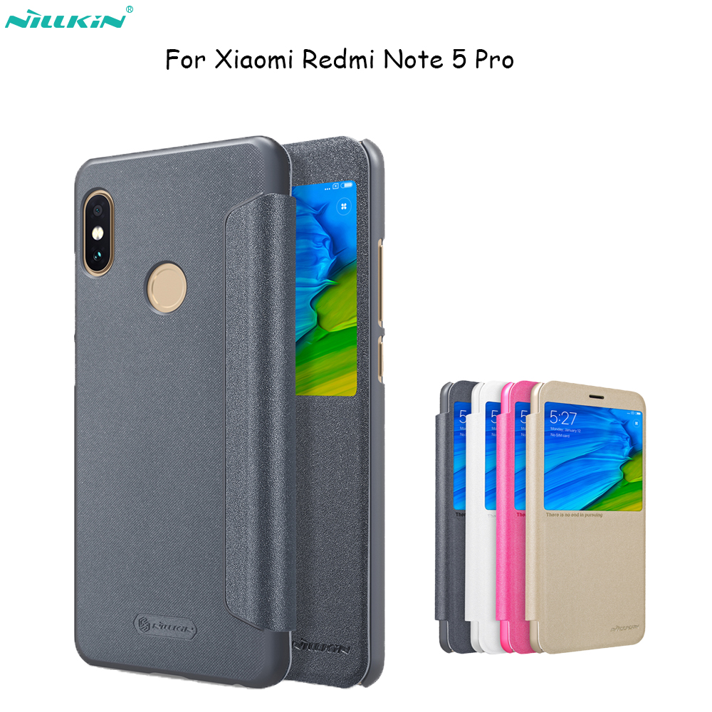 size 40 4cb69 81d60 For Xiaomi Redmi Note 5 Pro Nillkin Amazing Anti-Explosion Tempered Glass  Screen Protector/PC Hard Back Cover/Flip Leather Case