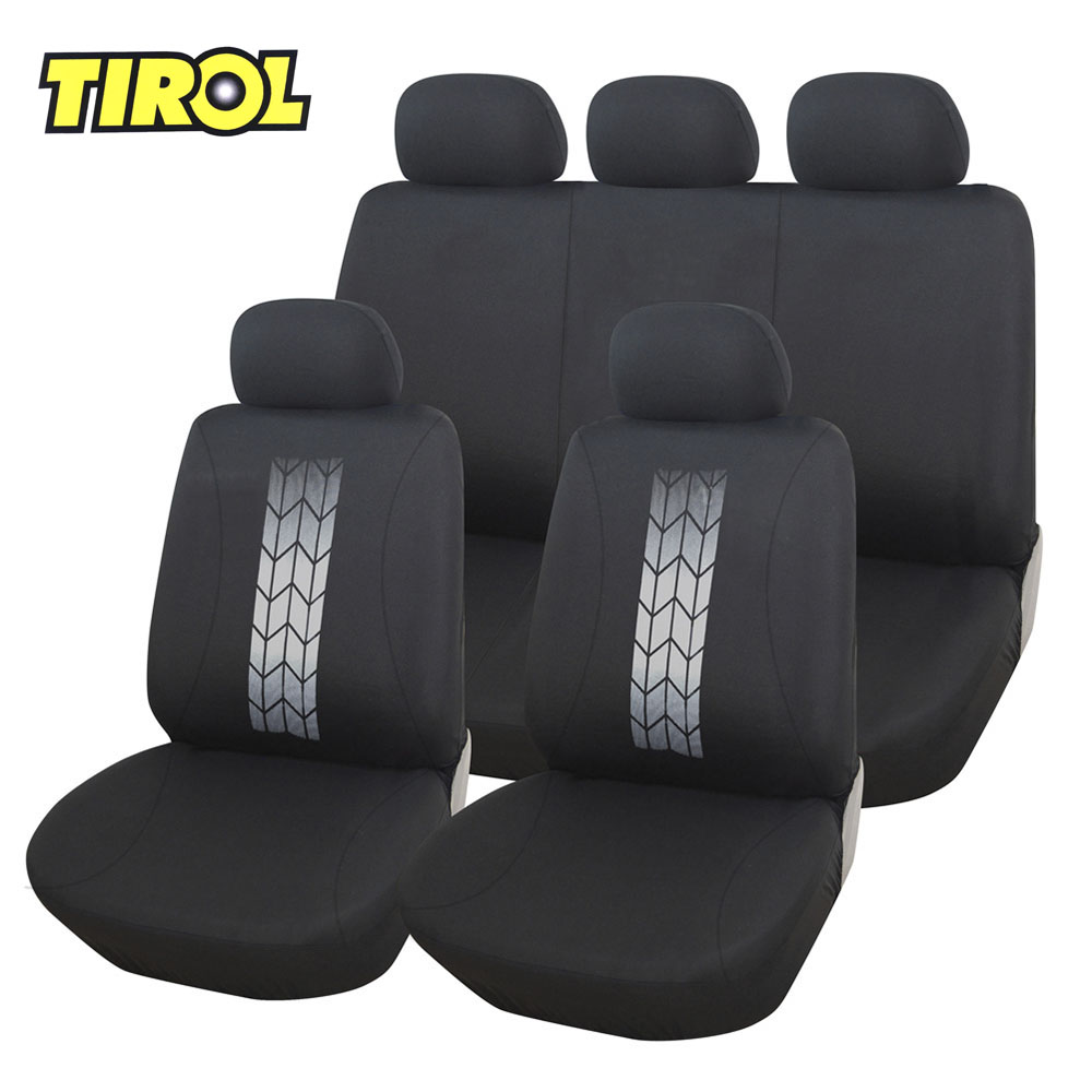TIROL Universal Fits Car Front Back Seat Cover Polyester Interior Protector Cover Auto C ...