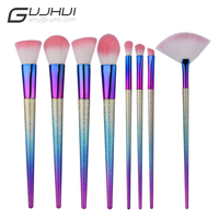 2017 Popular Scrub 8 Pcs Makeup Brushes Set Blending Eyeshadow Foundation Blush Soft Cosmetic Makeup Brushes