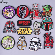 Pulaqi Diy Clothing Stickers Star Wars Patches Stripes Sew On Clothes Iron Embroidery Ant-Man Sticker Wholesale H