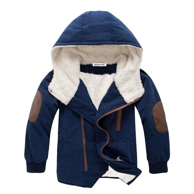 Дети Твердые Детская теплая одежда детские куртки для мальчиков и девочек куртка с капюшоном зимние пальто девушки Костюмы пальто для маль...