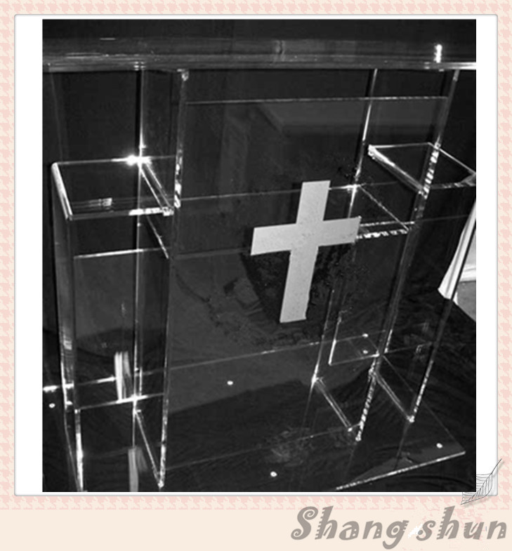 Large Luxury Acrylic Podium Pulpit Plexiglass Podiums Lectern Acrylic Church Podiums Perspex Lectern Acrylic Church Pulpit(China)