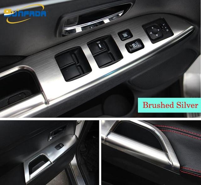 4pcs Set Stainless Steel Auto Parts Inside Armrest Decoration Trim