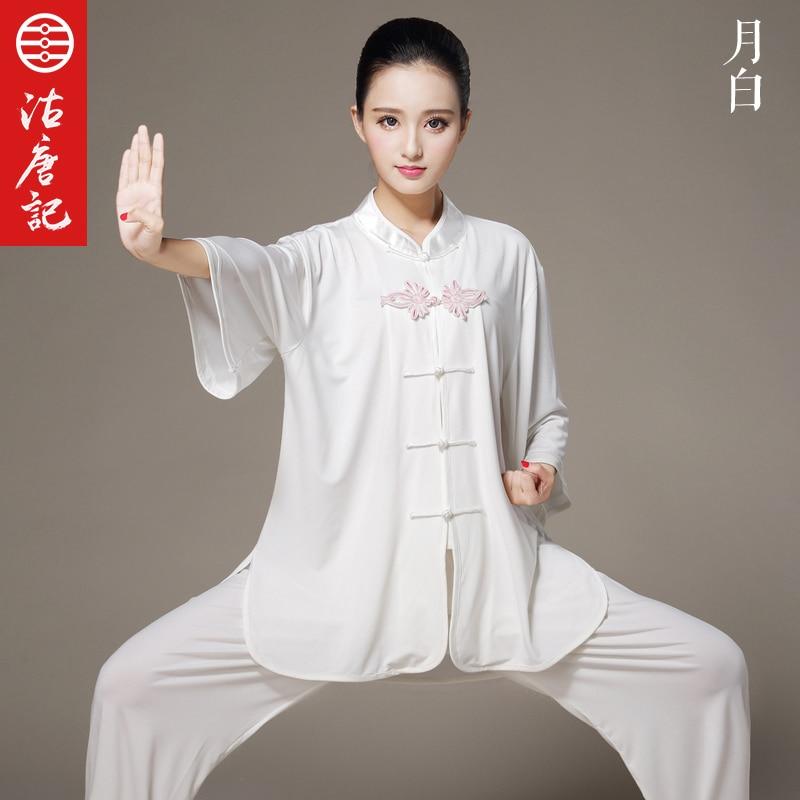 Women  Half  Sleeve Tai Chi  Uniform Short Sleeve Tai Chi  Kun Fu Clothes