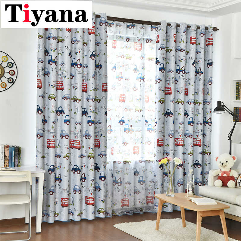 Cartoon Car window curtains for kids rooms  Curtains For Kids Children Room Living Room Baby blinds Drapes Home Textile P146D4