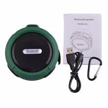 Portable Waterproof Outdoor Wireless Bluetooth Speaker C6 Sucting Computer Mobile Phone Speaker Support TF Card High Quality!