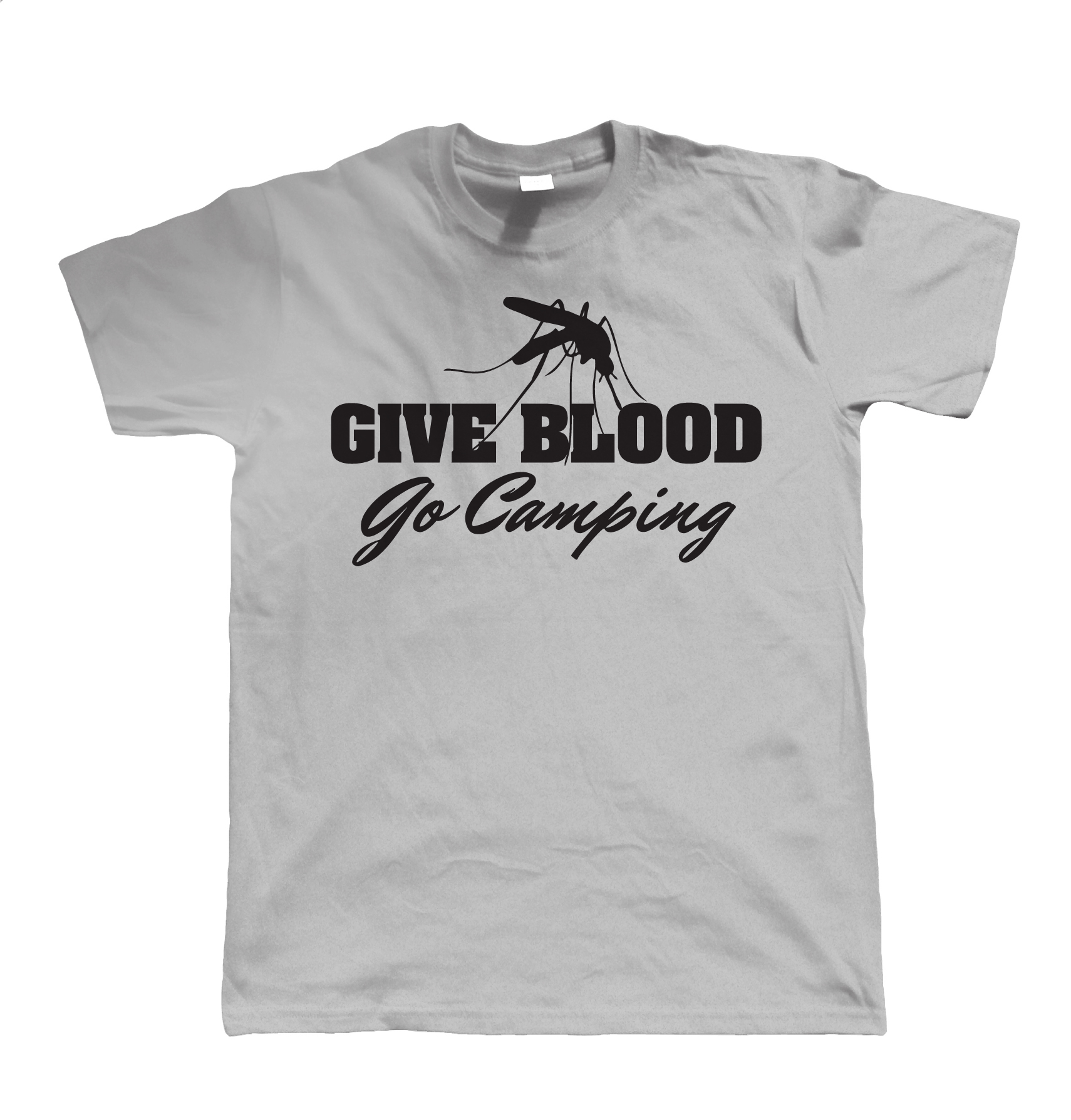 Give Blood Go CampingED Mens Funny T Shirt - Campervan Wild campingED Gift for Him