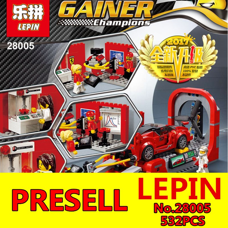 Technic Creator Series LEPIN 28005 532PCS Educational Building Blocks Compatible Technic City Car Toy Model Children Toys Gift decool 3114 city creator 3in1 vehicle transporter building block 264pcs diy educational toys for children compatible legoe