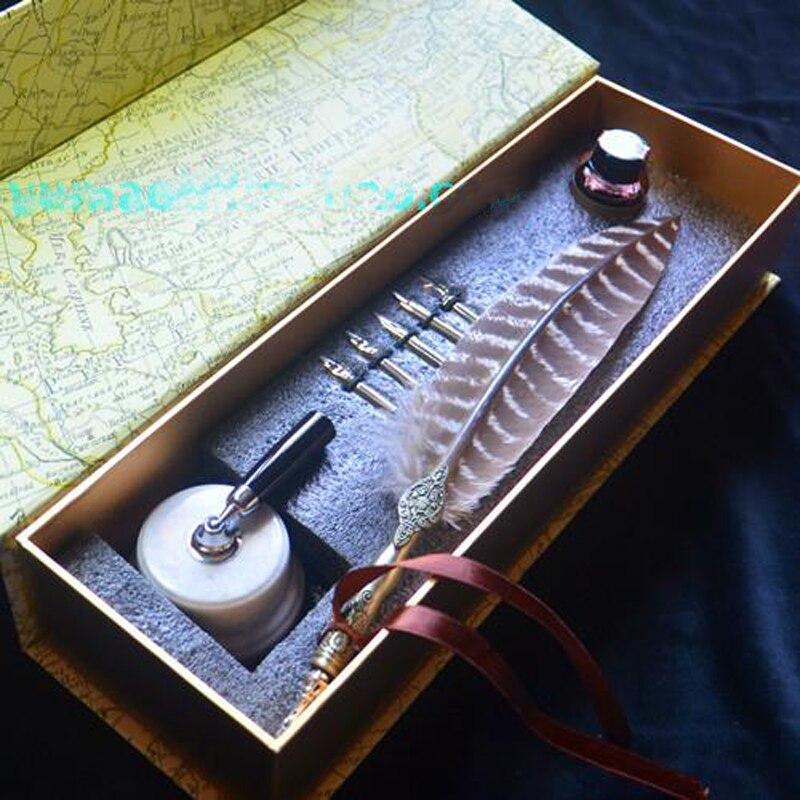 Mágica de Madeira Cobre Roteiro Oblíqua Dip Pen