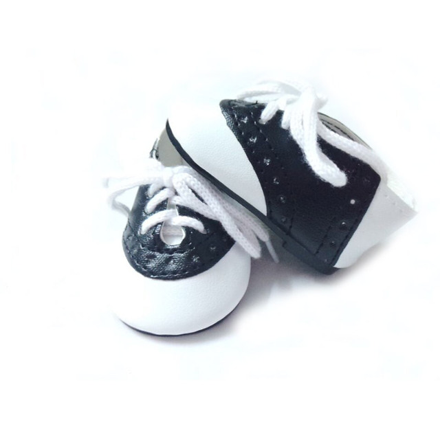 """Black & White Saddle Shoes made for 18"""" American Girl Doll Clothes"""