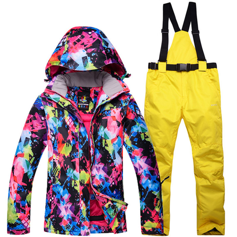 New winter Jackets woman Snowboarding winter sports clothing, ski sets Waterproof thick-30 warm suit Jackets + pantsNew winter Jackets woman Snowboarding winter sports clothing, ski sets Waterproof thick-30 warm suit Jackets + pants