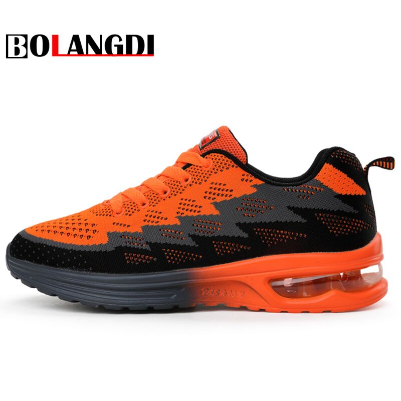 Bolangdi new summer men women sport running shoes breathable mesh Lady outdoor jogging walking shoes brand mens female sneakers