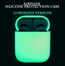 Airpods case 1 2 Luminous AirPods Headphone Silicone protection Case silicone material 2019 new
