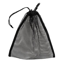 Durable Mesh Nets Bag Pouch Scuba Dive Gear Golf Tennis 30 Balls Carrying Holder Storage Clip On Caddy Pouch 20x24cm Black(China)