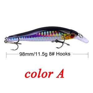 Image 2 - 9.8cm 11.5g Hard Minnow Fishing Lure Topwater Floating Wobblers Crankbait Bass Artificial Baits Pike Carp Lures Peche 30