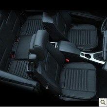 Araba malzemeleri araba koltuğu kapakları, ilkbahar yaz premium araba koltuk minderi, bambu kömür deri monolitik koltuk minderi