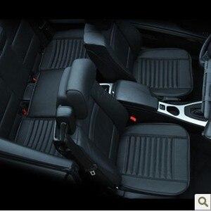 Image 1 - Auto Levert Auto Stoelhoezen, Lente Zomer Premium Auto Zitkussen, Bamboe Houtskool Leer Monolithische Zitkussen