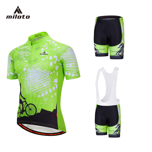 171c44a96 MILOTO 2018 Pro Team Cycling jersey set MTB Bike uniform cycle shirt Ropa  ciclismo verano Cycling Clothing set maillot ciclismo