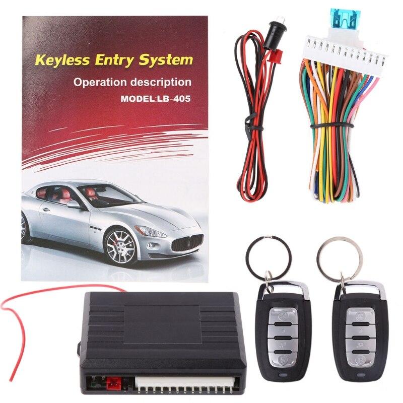 Universal sistemas de alarme carro auto remoto porta central bloqueio do veículo keyless sistema entrada kit 12 v com controle remoto