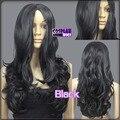 100% Фото парик 60 см Черный Тепло Styleable Нет Банг Фигурные Косплей Парики