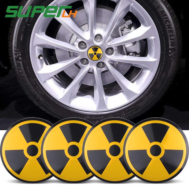 Крутой DIY 56 мм ядерный радиационный Эмблема/Бейдж/логотип автомобиля шиномонтажный Центр Наклейка для Opel Renault Mazda Эмблема для BMW VW AUDI автомобильный Стайлинг