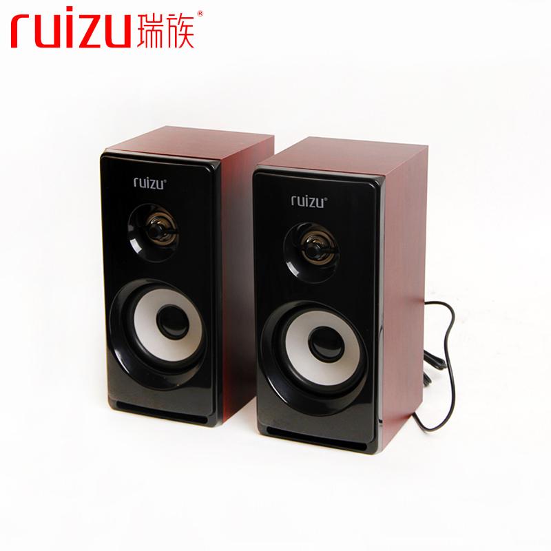 New High Quality Wood USB Speaker Stereo Bass Woofer Computer PC Speakers Loudspeaker for PC Computer Laptop Notebook Smartphone