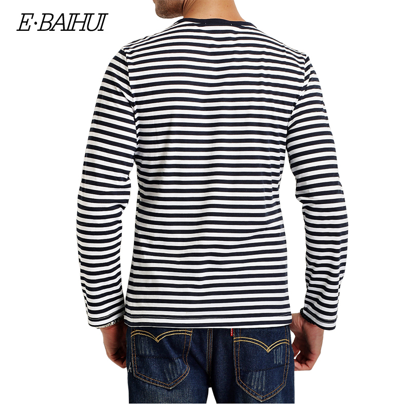 6342b87eaad4 E BAIHUI brand spring Autumn Casual Striped T Shirt Men Long Sleeve Men s T  ShirtS Slim Fit Mens Clothes Trend Tops Tees CT067-in T-Shirts from Men s  ...
