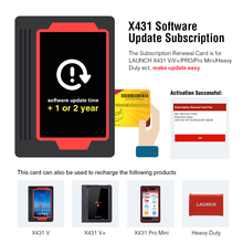 LAUNCH software de tarjeta Pin de tienda oficial, tarjeta de actualización, compatible con gasolina y diésel de 12 V para X431 V/V +/PRO/Pro Mini/Diagun IV
