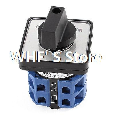 Ui 660V Ith 25A 8 Screw Terminals on/off/on 3 Ways Rotary Cam Changeover Switch ui 660v ith 125a 12 terminals rotary cam universal combination switch