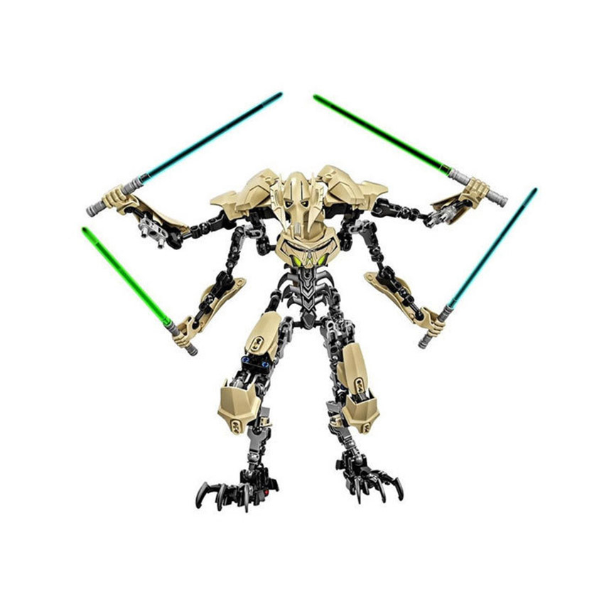 Star Wars General Grievous with Lightsaber Figure starwars Toys Building Blocks Compatible with Legoingly starwars Toys ksz326 star wars rogue one toys jango phasma jyn erso k 2so darth vader general grievous figure toy building blocks toys
