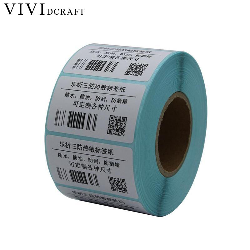 Vividcraft 2000Pcs/Roll 30mm x 10mm Adhesive Thermal Label Sticker Paper Supermarket Price Blank Label Direct Print Waterproof supermarket direct thermal printing label code printer